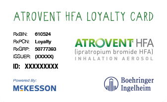 ATROVENT HFA loyalty card